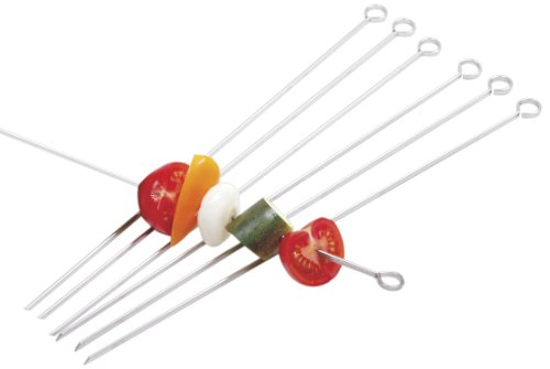 Norpro 1934 Stainless Steel 14-inch Skewers, Set of 6