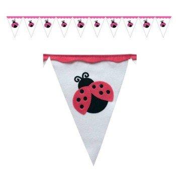 Flag Banner Ladybugs (Felt Lady Bug Flag Banner 9-Feet)