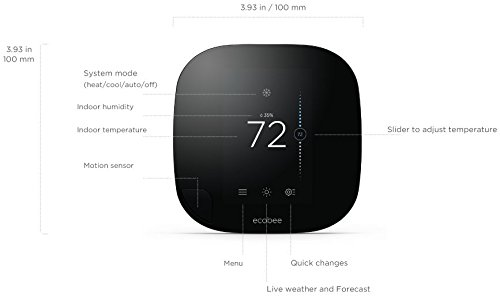 ecobee3 Thermostat with Sensor, Wi-Fi, 2nd Generation, Works with Alexa