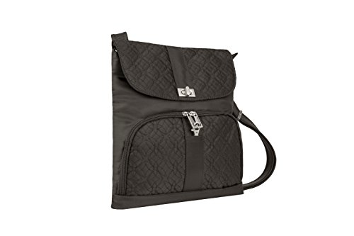 Travelon Anti-Theft Flap Front Shoulder Bag, Truffle, One Size