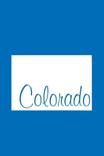 Download Colorado - Cobalt Blue Lined Notebook with Margins: 101 Pages, Medium Ruled, 6 x 9 Journal, Soft Cover PDF