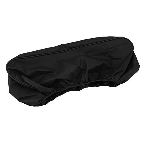 Copertura per tendalino parapolvere per velivoli morbidi impermeabili Pudincoco 600D Resistente al driver resistente alle muffe 8000-17500 lbs Copertura resistente ai raggi UV nero (nero)