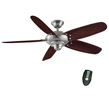 Home Decorators Collection Altura 56 in. Brushed Nickel Ceiling Fan