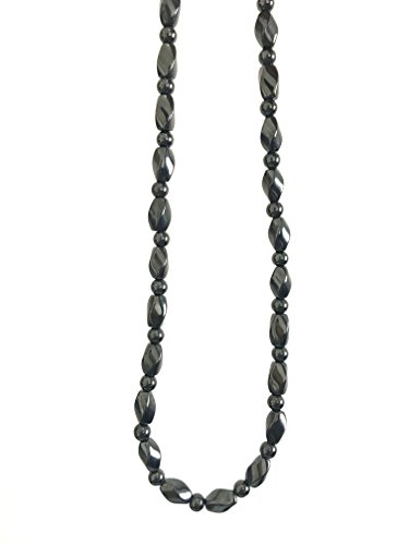 Acupress Hematite Magnetic Stone Nacklace Therapy Healing Jewelry in Multi Styles. (Type C)