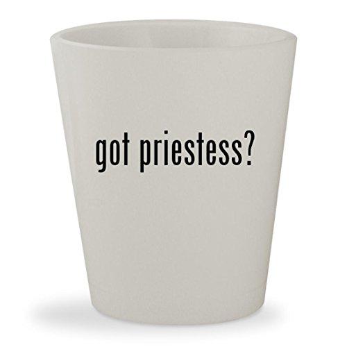 got priestess? - White Ceramic 1.5oz Shot (Voodoo High Priestess Costume)