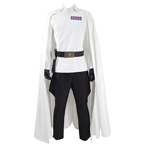 Fancycosplay Mens Battle Uniform White Cloak Full Set Cosplay Costume (Man-XXL) -