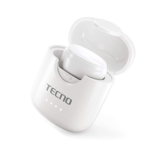 Tecno Minipod M1 with Portable Charging case, Upto 18 hrs of Playback, IPX4 Water Resistance, Noise Cancellation Technol