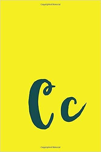 Cc Monogram Journal C Alphabet Amazon Co Uk Hibbert Cecelia G 9781691009473 Books