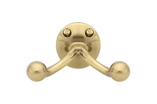 Emtek 2607 Traditional Brass Double Hook with 8 finish options (French Antique ()