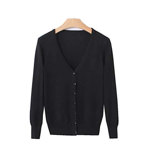 See Airla New Women Cardigan Knitted Sweater Coat Long Sleeve Crochet Female Casual V-Neck Cardigans Tops 3 L