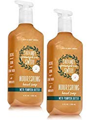 Bath and Body Works 2 Pack Caramel Pumpkin Swirl Nourishing Hand Soap. 8 Oz