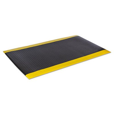 Wear-Bond Comfort-King Anti-Fatigue Mat, 3 ft x 5 ft, Black/Yellow, Sold as 1 -