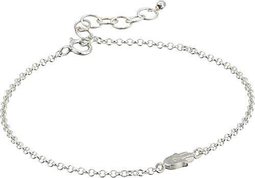 Dogeared Women's The Lucky Charm Bracelet, Hamsa Charm On Chain Sterling Silver One Size