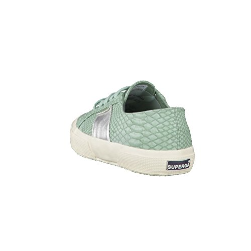 Superga Damen 2750-Pusnakew Niedrige Sneaker Green Lt Sage
