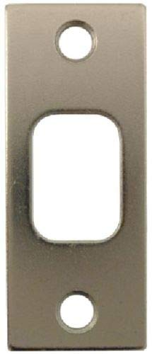 Satin Brushed Nickel Deadbolt Strike Plate Door Backplate 1 1/8
