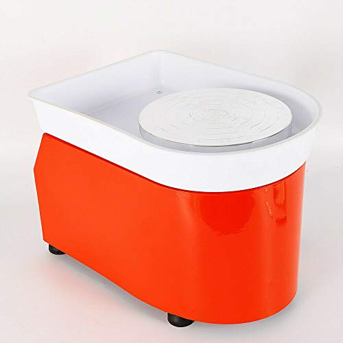 Art Supply Ceramics TBVECHI 350W Electric Pottery Wheel Molding Machine for Ceramic Work Clay Art Craft DIY 110V 3 Types - Reversible Spin Direction - Ceramics Clay Pot, Bowl, Cup, Art (Orange) by TBvechi (Image #4)