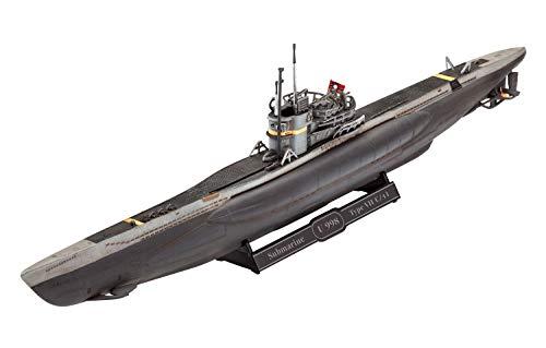 Revell RV05154 05154 5154 German Submarine Type VII C/41 1:350 Plastic Model Kit, Various