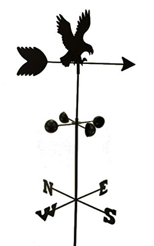 Weather Vane Eagle 6 Feet Tall Black Garden Mount Yard Decor