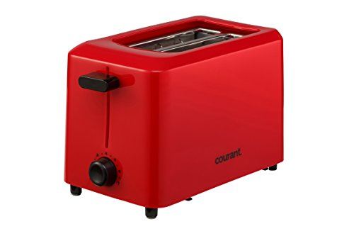 Courant CTP-2701R Cool Touch 2-Slice Toaster, Red