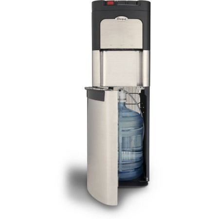 Whirlpool Stainless Steel Bottom Loading Commercial Water Cooler with Ice Chilled Water Cooling Technology and Steaming Hot Water