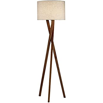 Adesso 3227 15 Brooklyn Floor Lamp   Contemporary Tripod Lamp, Smart Outlet  Compatible,
