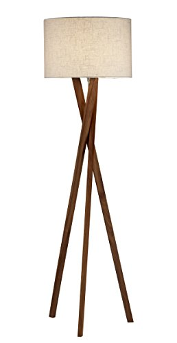 Adesso 3227-15 Brooklyn Contemporary Floor Tripod Lamp, 63 in. Decor Light