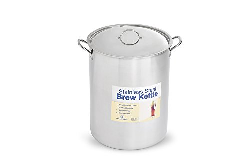 Polar Ware Stainless Steel Brew Pot with Cover, 60-Quart 60 Quart Brew Pot