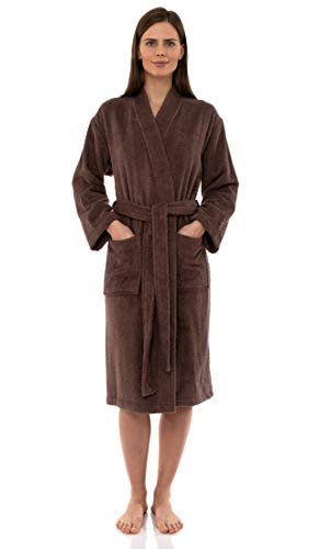 n's Robe Turkish Cotton Terry Kimono Bathrobe Small/Medium Acorn ()