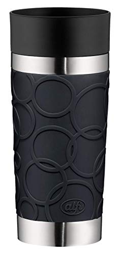 Alfi Thermos Cup, Stainless Steel, Stainless Steel, Black, 8,2 x 8,2 x 19,0 cm