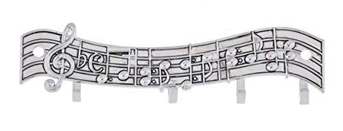 Ganz Music Notes Silver Tone 5 x 1.5 Zinc Measuring Spoon Display Rack With -