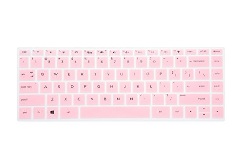 Leze - Ultra Thin Keyboard Cover Compatible with 14 HP Pavilion x360 2-in-1 14M-BA 14M-BA011DX 14M-BA014DX 14M-BA015DX,14M-BF 14-BF050WM,14M-BW 14-BW065BR Series Touch Screen Laptop - Pink