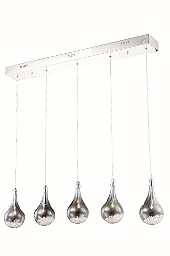 Elegant Lighting 2054D5O/RC Pendant, Chrome from Elegant Lighting