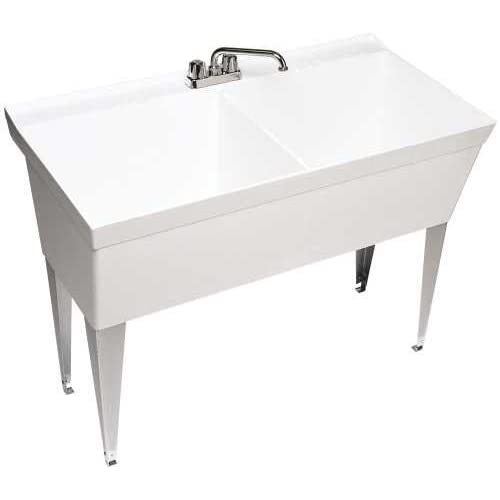 Swan MF 2F Floor Mounted Double Laundry Tub