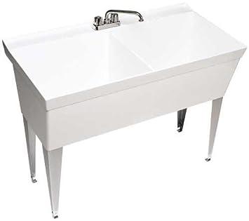 swan mf2f double laundry tub white
