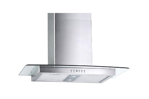 Blue Ocean 30″ RHKQ2 Tempered Glass Stainless Steel Wall Mount Kitchen Range Hood | 760 CFM | PRO PERFORMANCE | 3 Speed Exhaust Fan | Ducted/Ductless Convertible Duct