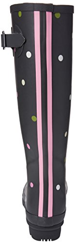 Joules Womens Welly Impression Botte De Pluie Gris Kiki Spot