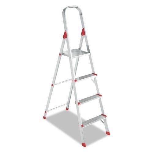 Davidson Ladder L234604 #566 Four-Foot Folding Aluminum Euro Platform Ladder, Red (Ladder Platform Euro 566 Aluminum)
