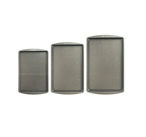 3-Pc. Non-Stick Cookie Pan Set, Silver Tone
