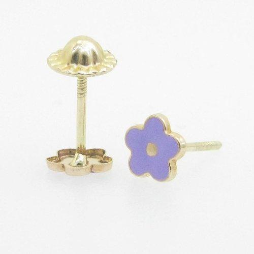 kids-earrings Enfant 14K Or Massif Boucles d'oreilles clous Fancy Katy Craig Créoles Boule Fashion Dangle SWA...