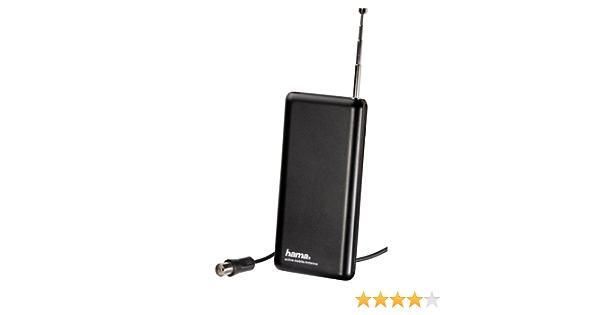 Hama 044276 - Antena interior, 23 dB, 220 V, incluye USB, color negro