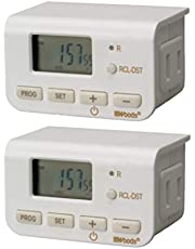 Woods Coleman Cable 50007 Digital Settings, Indoor Lamp Timer, 2-Pack