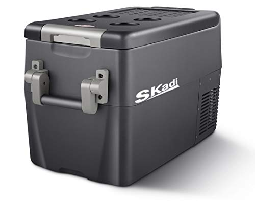 Skadi 32 Quart DC12V 24V AC 110V Portable car Fridge/Freezer with Both Refrigerator Zone and Freezer Zone - Wagon Refrigerator
