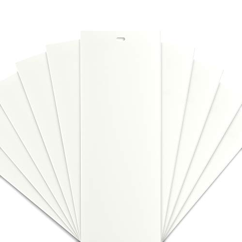 DALIX PVC Veritcal Blind Replacement Slats Curved Off-White 94.5 x 3.5 (10-Pack) ()