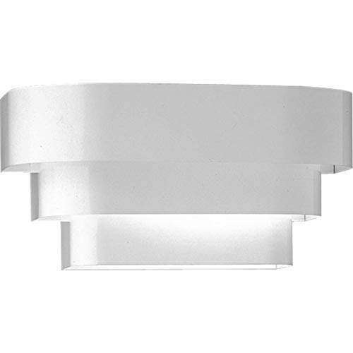 - Progress Lighting P7103-30 Tri-Band Louver Provides Illumination from Top, Bottom and Between Louvers, White