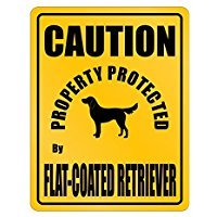 New Flat Coated Retriever - NEW PROTECTED BY Flat Coated Retriever PARKING SIGN - Dogs - Parking Sign [ Decorative Novelty Sign Wall Plaque ]