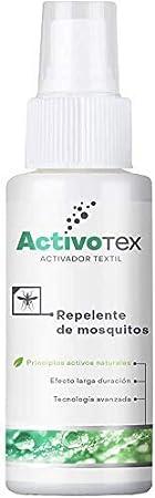 ActivoTex Spray Repelente de Mosquitos Natural | Antimosquitos de Larga duración contra picaduras para niños, Adultos, Perros. | Extracto Natural Citrodiol | Auyentador de Mosquitos Potente (80ml)