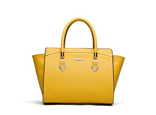 New Winter qckj Mode Cross Body Schulter Tasche Frauen Pu siold Handtasche schwarz gelb ZKfBu
