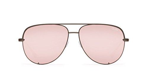 Quay X Desi Perkins High Key Sunglasses (Gunmetal, - High Gold Quay Key Rose