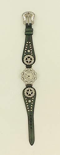 M & F Western Women's Fancy Metallic Concho Watch Light Blue One Size