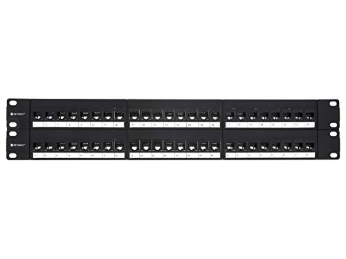 Networx CAT6 High-Density Feed Through Patch Panel - 48 Port, ()